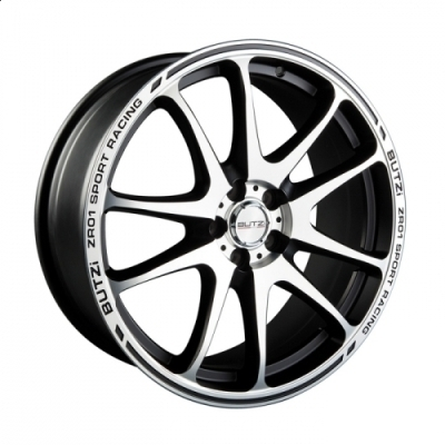 "Llanta ZR01 7.5x 18""  5 110 40 67,1 Black/Machined Face"