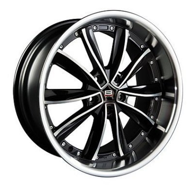 "Felge GT-V/HS225 8,5x 19""  5x100 ET38 67,1 Black/Full Polish"