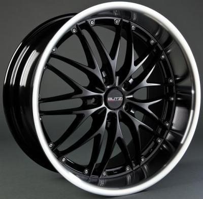 "Llanta GT-R/HS169 7,5x 17""  5x110 ET40 67,1 Black/Polished Lip"