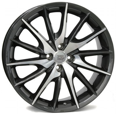 Felge WSP FiRe MiTo 7.0x17.0 ET39 4X098 58,1 ANTHRACITE POLISHED