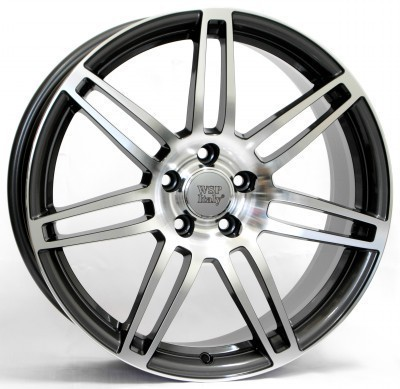 Llanta WSP S8 COSMA TWO 8.5x19.0 ET45 5X112 57,1 ANTHRACITE POLISHED