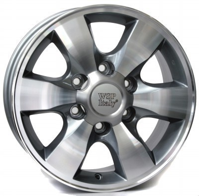 Llanta WSP SAPPORO / Fortuner 7.0x16.0 ET30 6X139,7 106,1 ANTHRACITE POLISHED