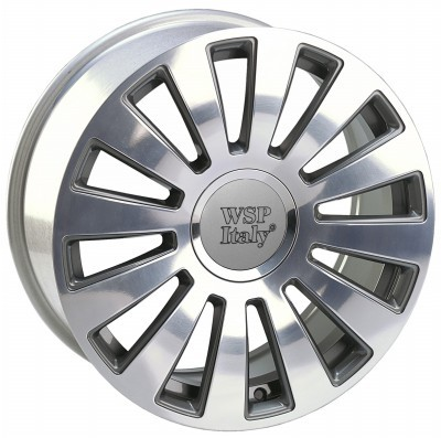 4 Llantas¡¡ WSP A8 RAMSES 7.5x17.0 ET42 5X100/112 57,1 ANTHRACITE POLISHED