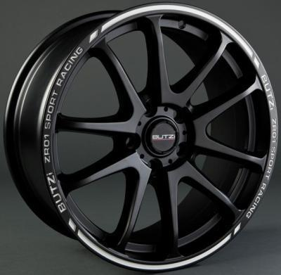 "Wheel ZR01 7.5x 17""  4 100 38 67,1 Mat Black/White"