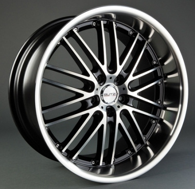 "Wheel GT-C/HS188 6,5x 15""  4x100 ET38 67,1 Black/Full Polis"